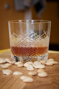 Minőségi kristály whisky pohár